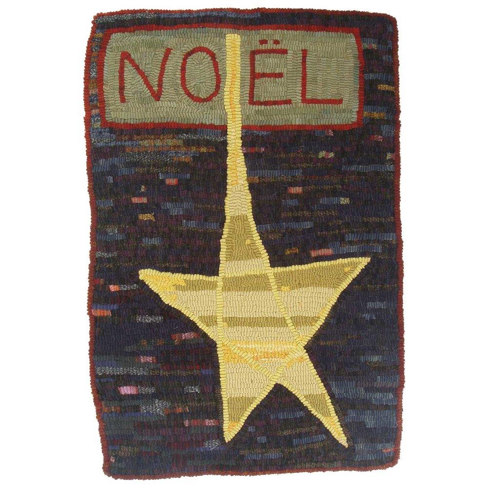 Noel Star Hooked Rug