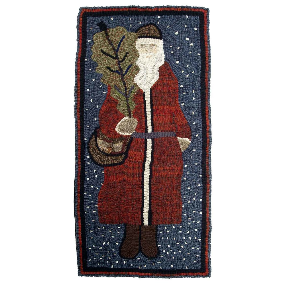 Saint Nicholas Hooked Rug