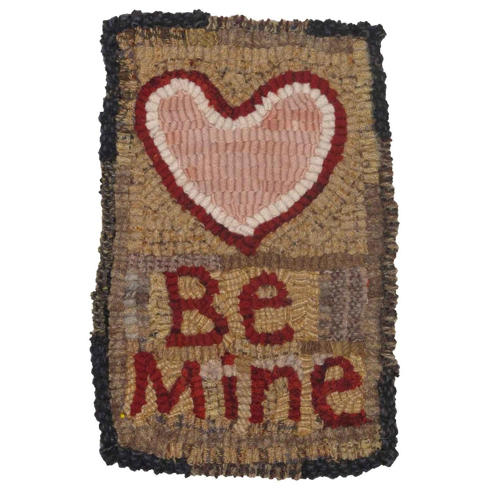 Little Be Mine Valentine Hooked Rug