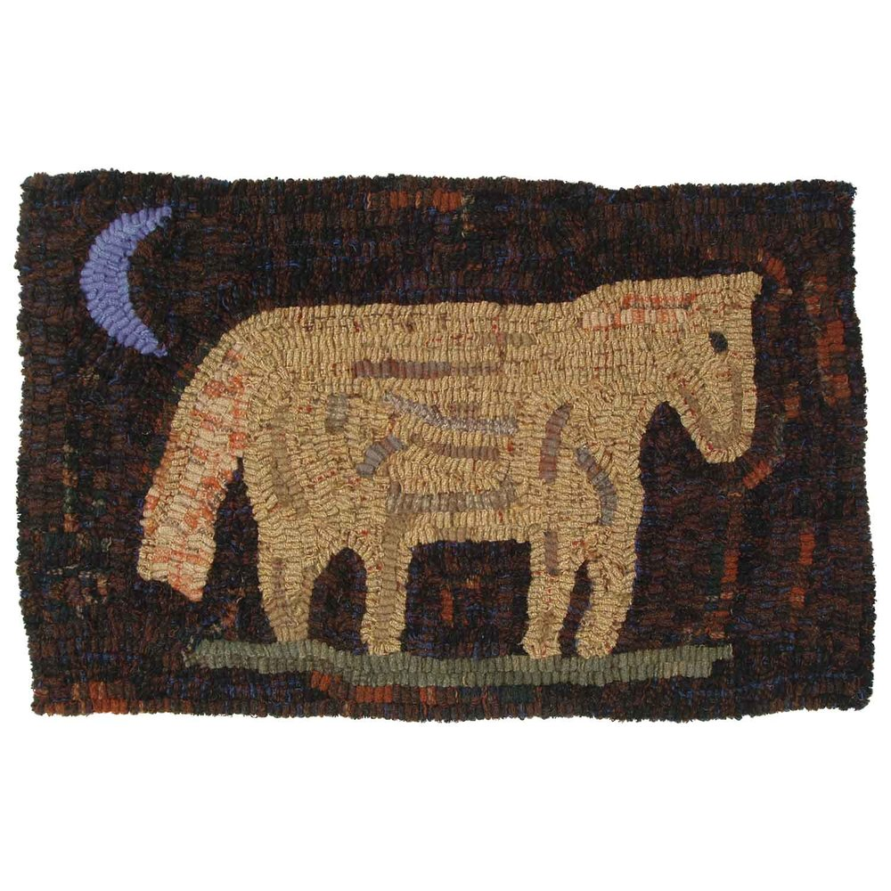 Slow Pony Home Hooked Rug