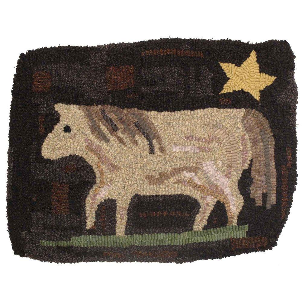 Star Pony Hooked Rug