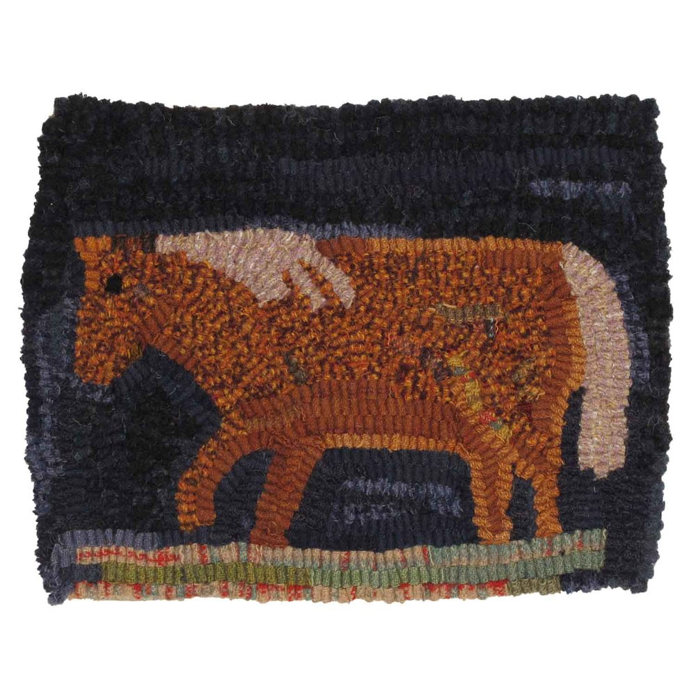 Walker the Horse Hooked Rug
