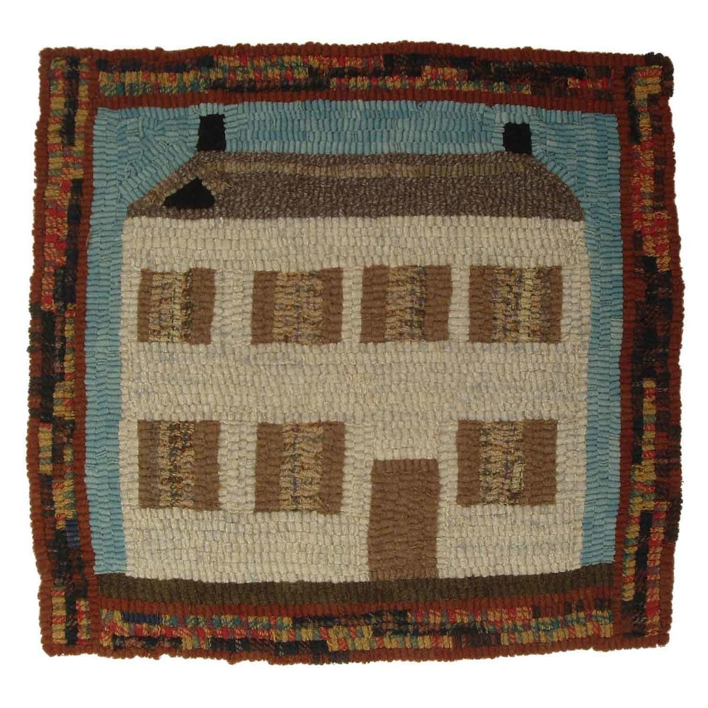 Autumn House Hooked Rug