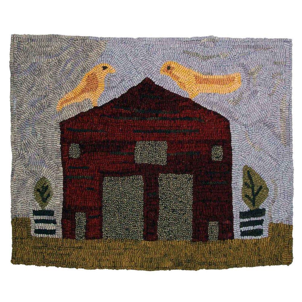 Quiet Barn Hooked Rug