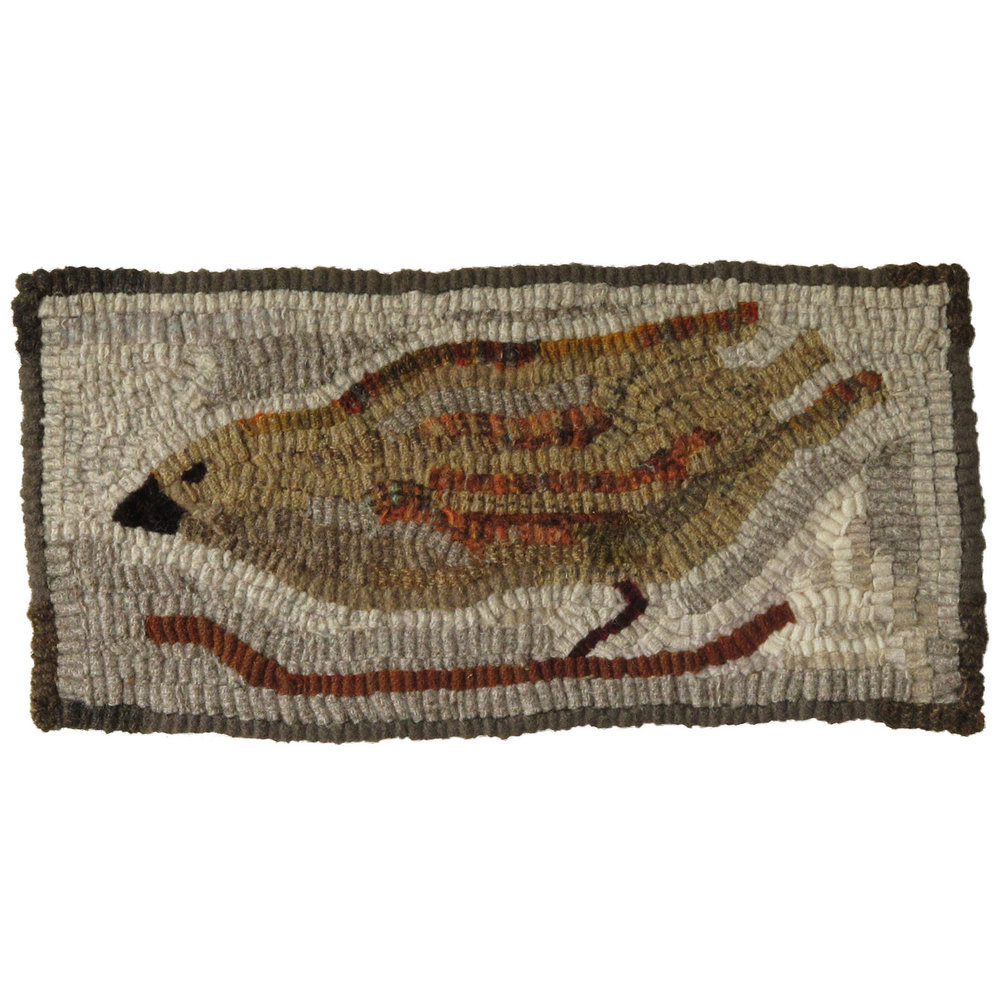 Hermione the Bird Hooked Rug