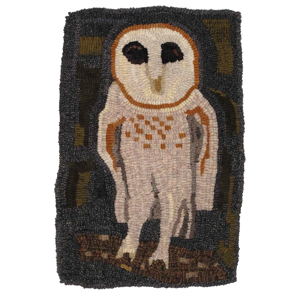 Valley Owl Hooked Rug