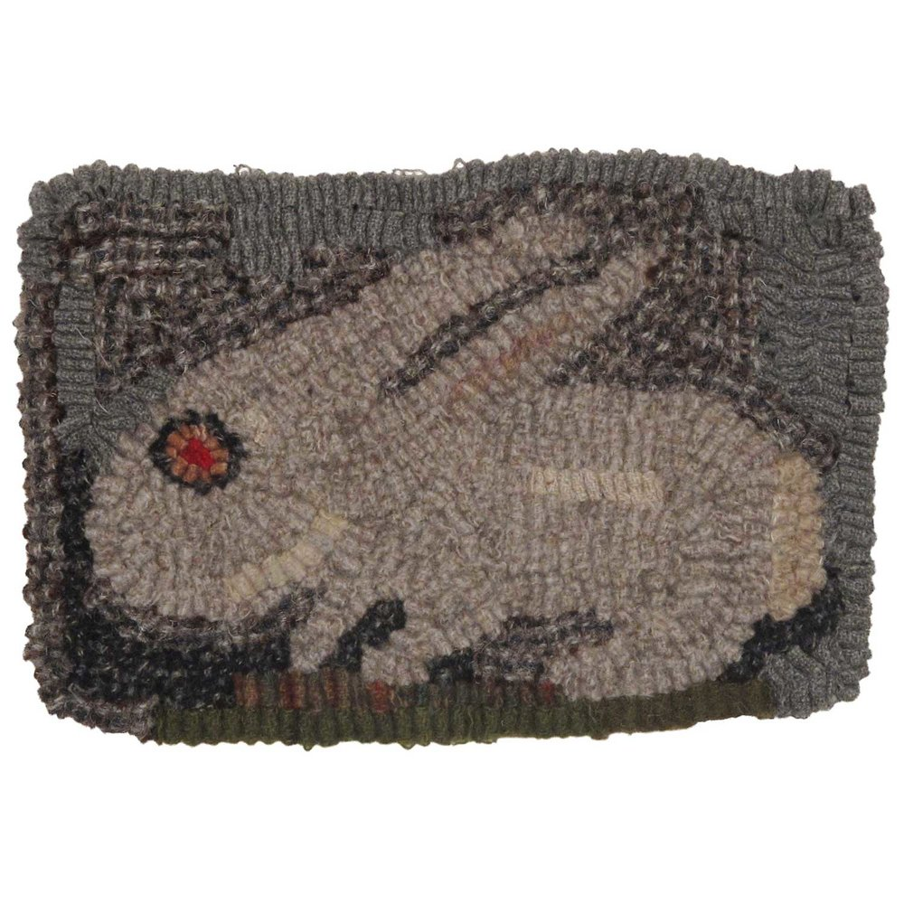Little Lucky Rabbit Hooked Rug