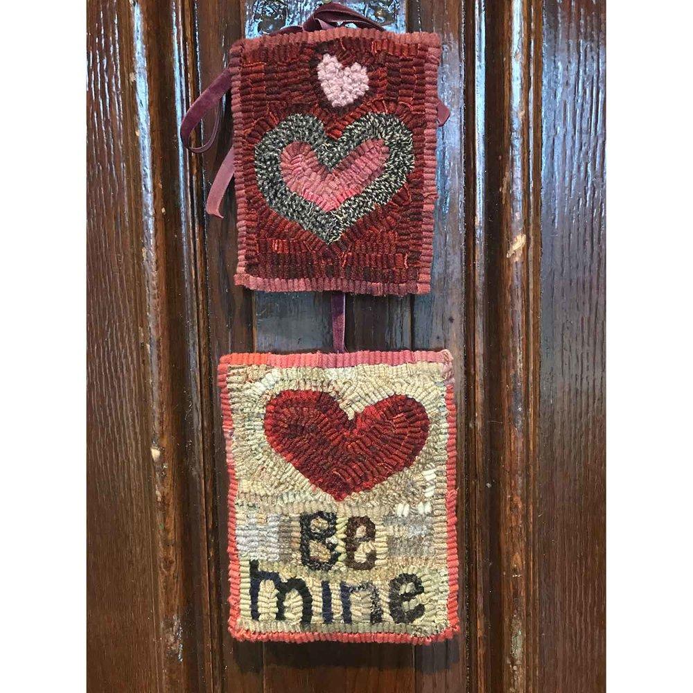 Valentine Rugs on the Front Door