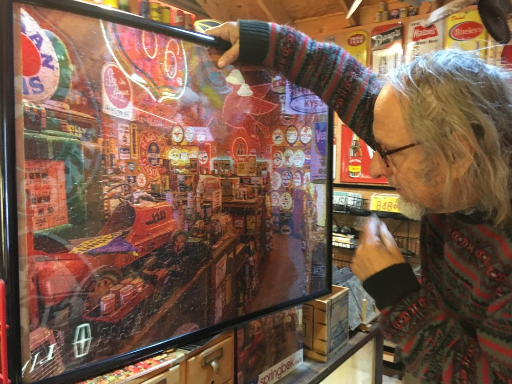 Johnnie Meier and the completed puzzle