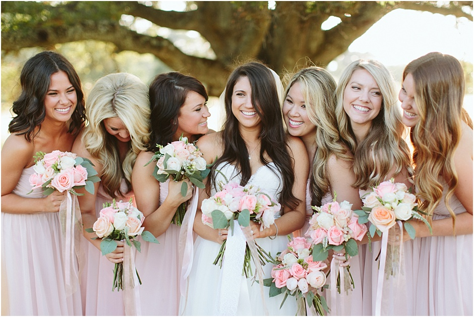 Bridesmaids in pink - second shooting