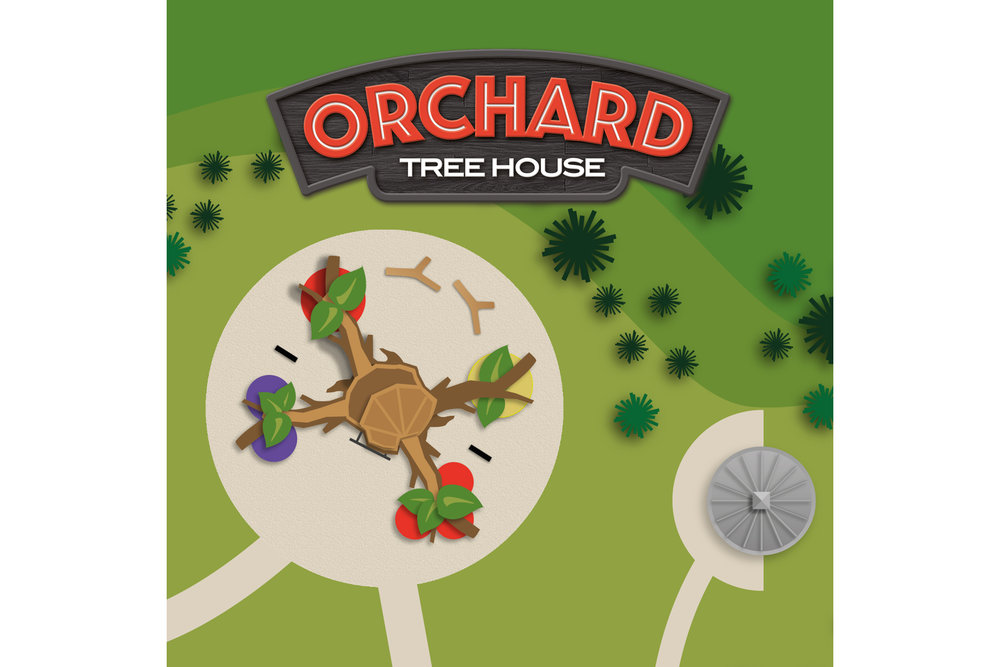 Click to see photos, videos and the original artists rendering of the Orchard Tree House