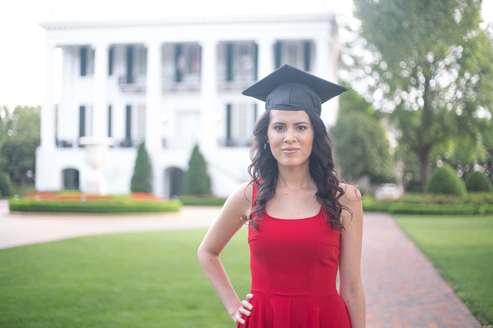 University of Alabama graduation portraits in Tuscaloosa, Alabama by David A. Smith of DSmithImages Wedding Photography, Portraits, and Events in Birmingham, Alabama.