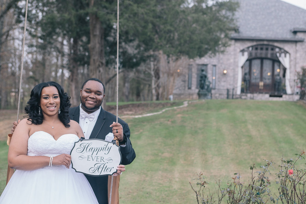 The Sterling Castle wedding photography in Shelby, Alabama