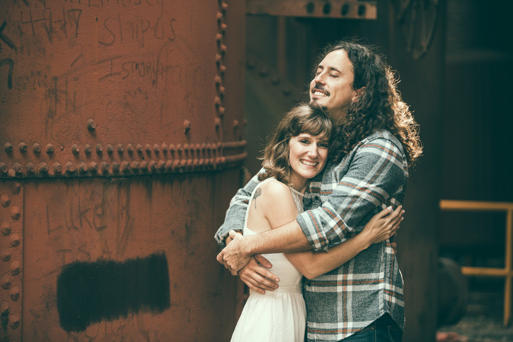 Birmingham, Alabama engagement photography at Sloss Furnaces National Historic Landmark