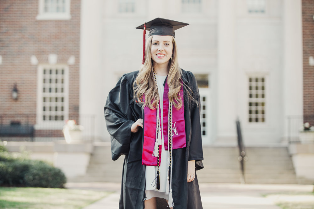 University of Alabama Graduation Portrait Photography in Tuscaloosa, Alabama by David A. Smith of DSmithImages Wedding Photography, Portraits, and Events in the Birmingham, Alabama area.