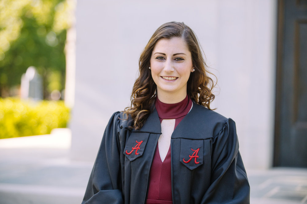University of Alabama graduation portrait photography in Tuscaloosa, Alabama by David A. Smith of DSmithImages Wedding Photography, Portraits, and Events in Birmingham, Alabama