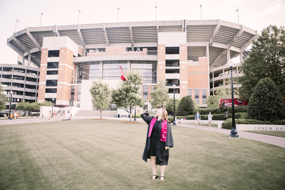 University of Alabama Graduation Portraits in Tuscaloosa, Alabama on April 18th, 2018 by David A. Smith of DSmithImages Wedding Photography, Portraits, and Events in the Birmingham, Alabama area.