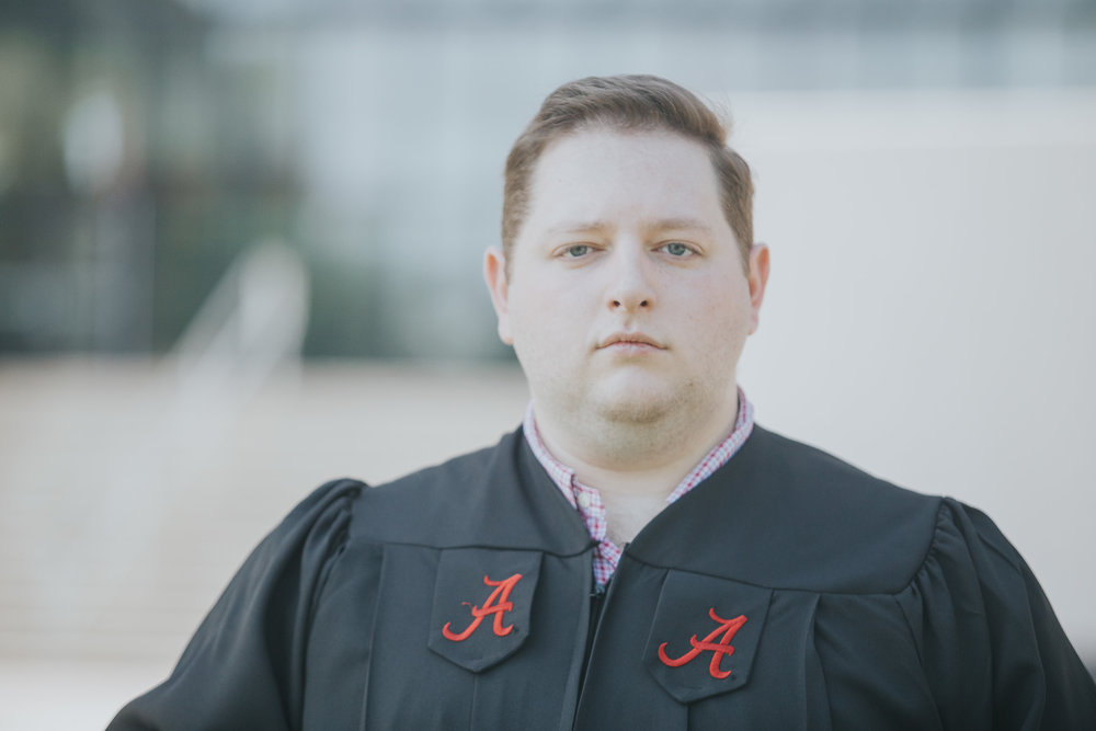 University of Alabama Graduation Portraits in Tuscaloosa, Alabama on May 3rd, 2018 by David A. Smith of DSmithImages Wedding Photography, Portraits, and Events in the Birmingham, Alabama area.