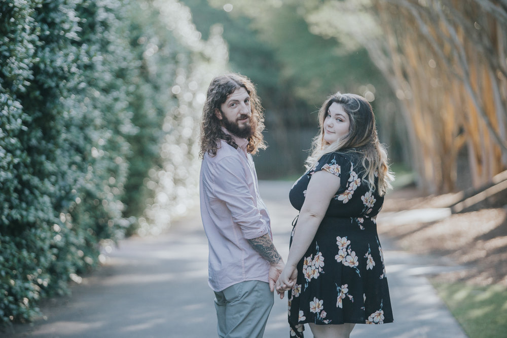 Birmingham, Alabama engagement session photography at the Birmingham Botanical Gardens on June 4th, 2018 by David A. Smith of DSmithImages Wedding Photography, Portraits, and Events
