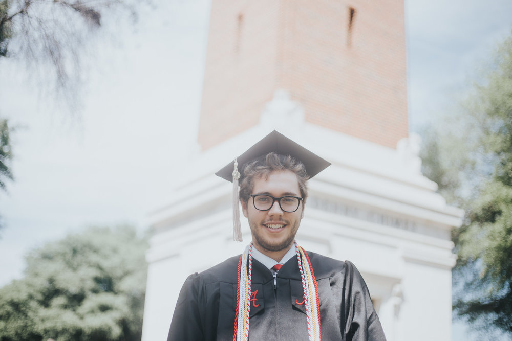 University of Alabama Graduation Portraits in Tuscaloosa, Alabama on May 4th, 2018 by David A. Smith of DSmithImages Wedding Photography, Portraits, and Events in the Birmingham, Alabama area.
