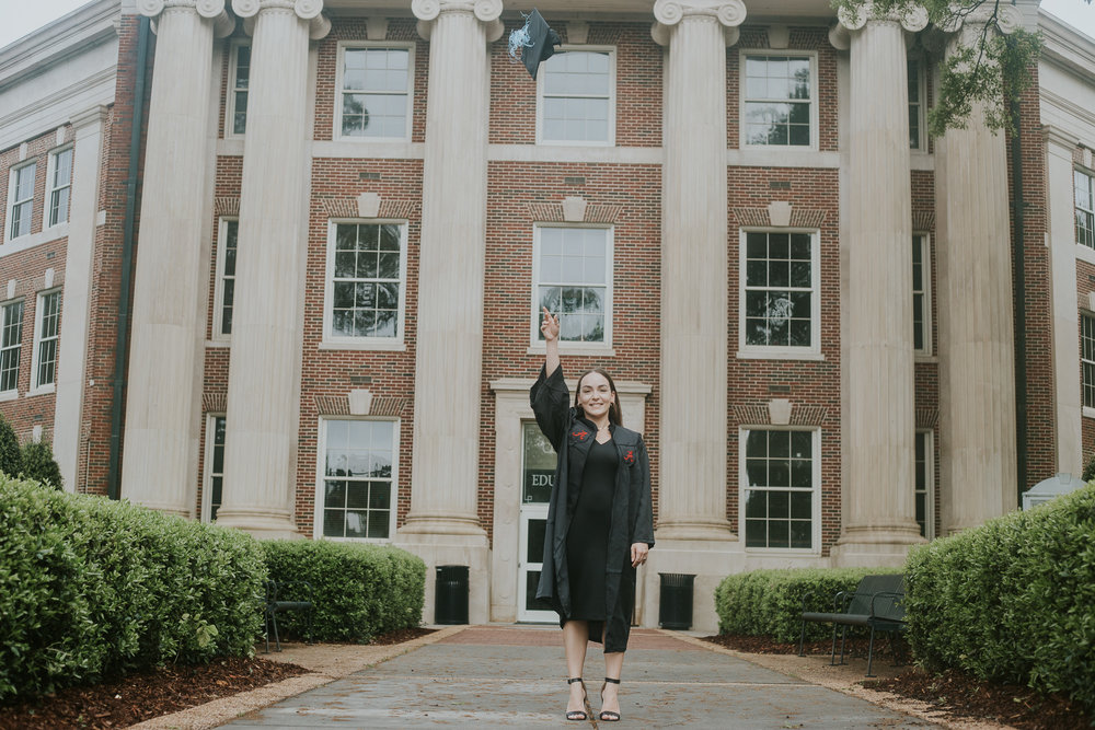 University of Alabama graduation portraits in Tuscaloosa, Alabama by David A. Smith of DSmithImages Wedding Photography, Portraits, and Events in Birmingham, Alabama