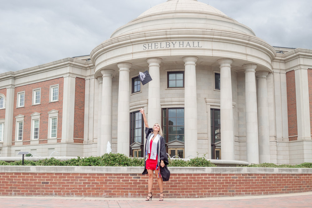 University of Alabama graduation portraits in Tuscaloosa, Alabama by David A. Smith of DSmithImages Wedding Photography, Portraits, and Events, a graduation portrait photographer in Birmingham, Alabama.
