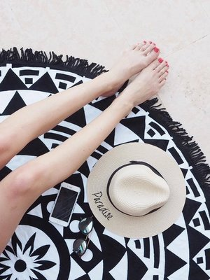 Straw Hat - PERSONALISED — MELON SWIMWEAR 50a9cd4f00c8