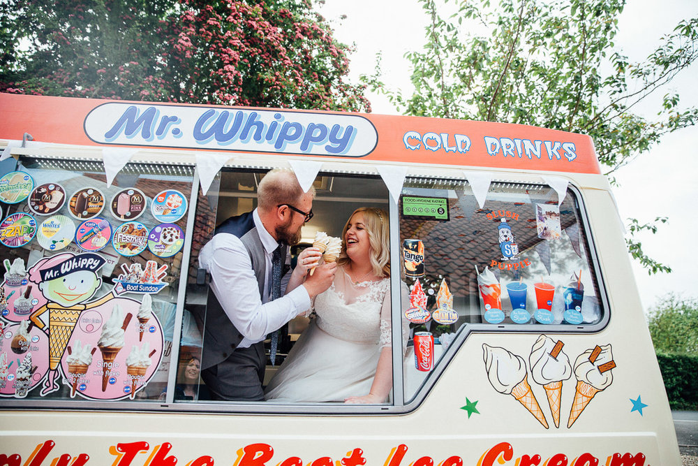 Wedding Ice Cream Van DIY Back Garden Wedding, Newark