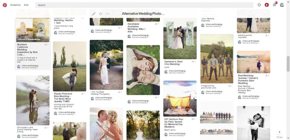 pros and cons of pinterest for wedding planning - chloe lee photography