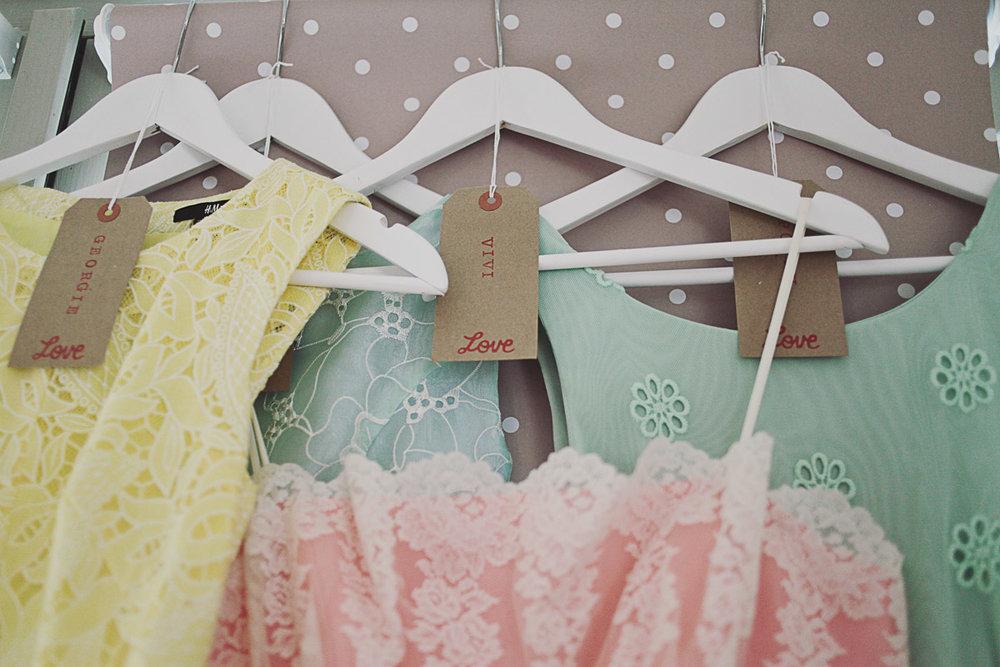 Disney Inspired Pastel Bridesmaid Dresses - UK Alternative Wedding Photography Chloe Lee Photo