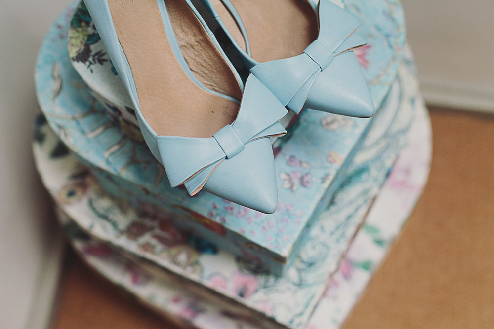 Something Blue Bridal Shoes - UK Alternative Wedding Photography Chloe Lee Photo