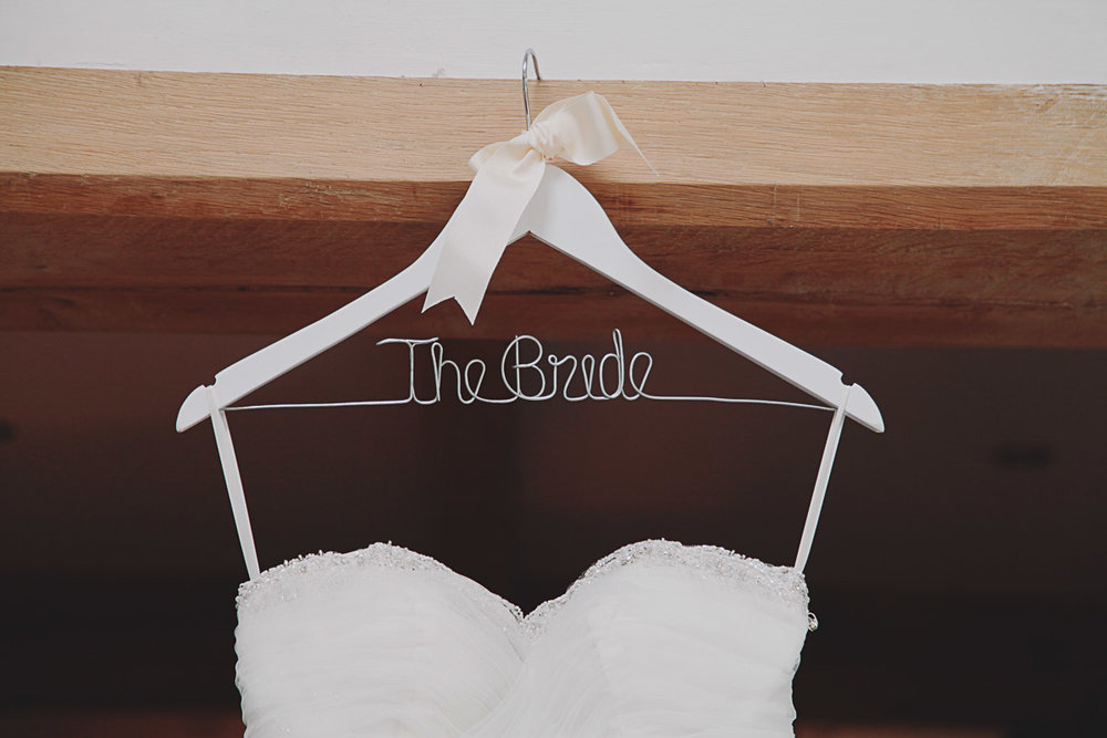 Bride Wooden Hanger - UK Alternative Wedding Photography Chloe Lee Photo