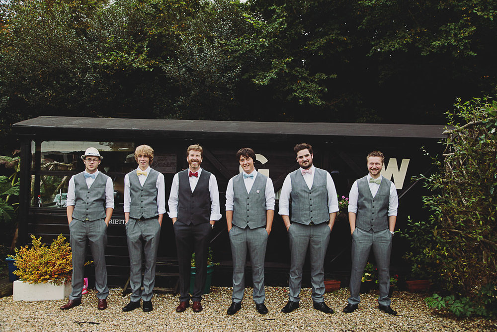 Alternative Groomsmen Suit Ideas - UK Alternative Wedding Photography Chloe Lee Photo