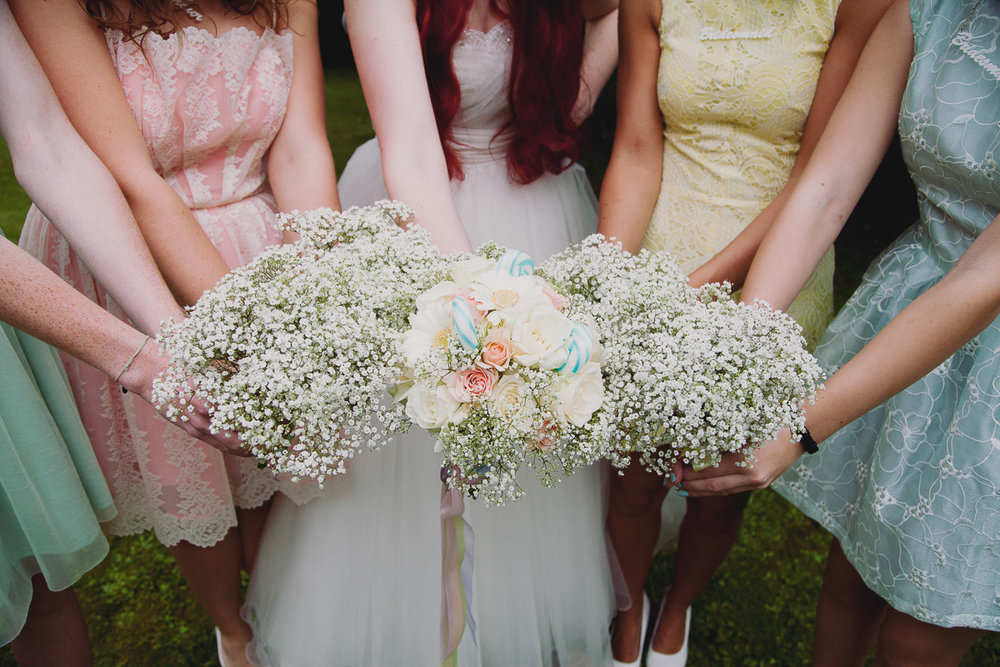 Babys breath wedding Bouquets - UK Alternative Wedding Photography Chloe Lee Photo