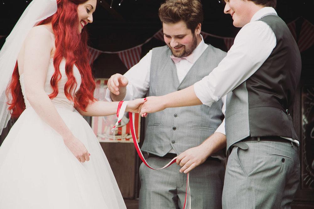 Handfasting Wedding Ceremony - UK Alternative Wedding Photography Chloe Lee Photo