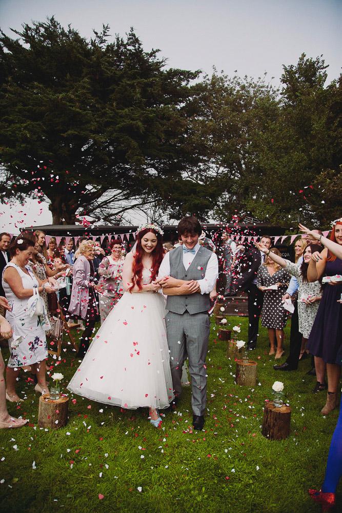 Fun Confetti Shot - UK Alternative Wedding Photography Chloe Lee Photo