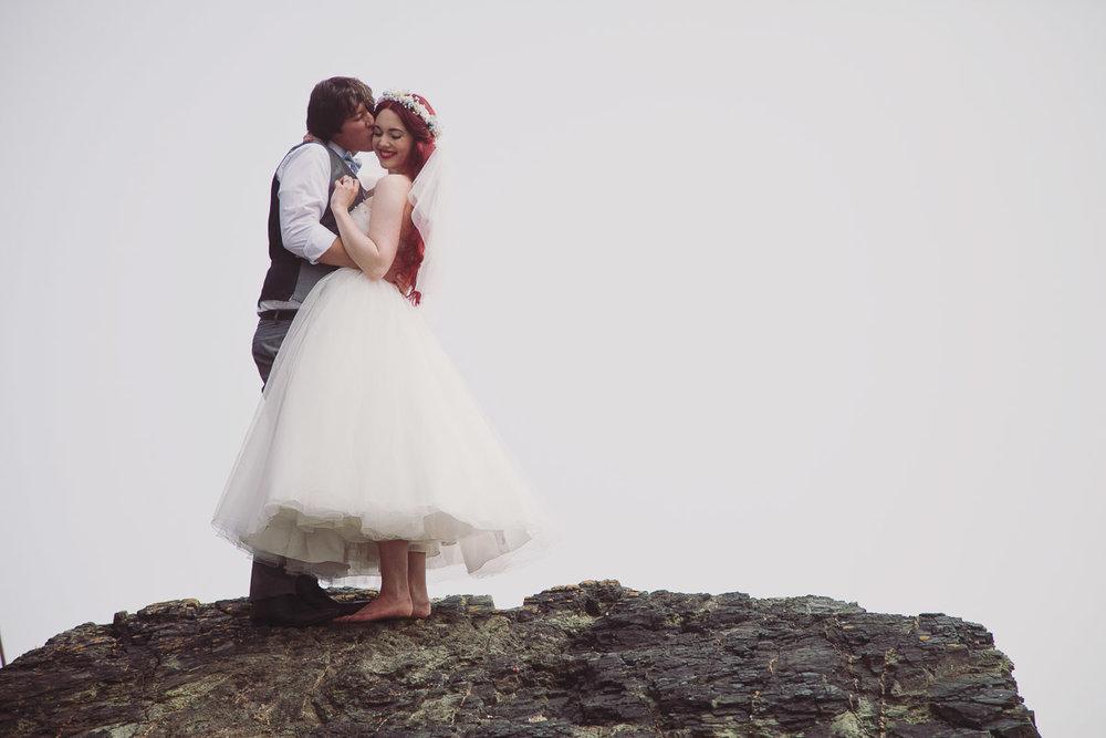 Disney Inspired Wedding Portraits Beach - UK Alternative Wedding Photography Chloe Lee Photo