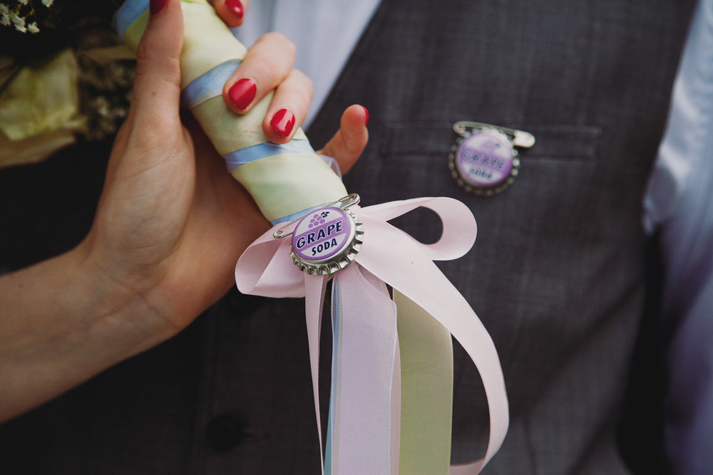 Disney Up Inspired Grape Soda Pin - UK Alternative Wedding Photography Chloe Lee Photo