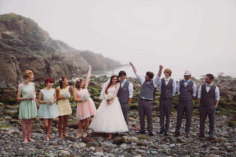 Fun Wedding Group Shots - UK Alternative Wedding Photography Chloe Lee Photo