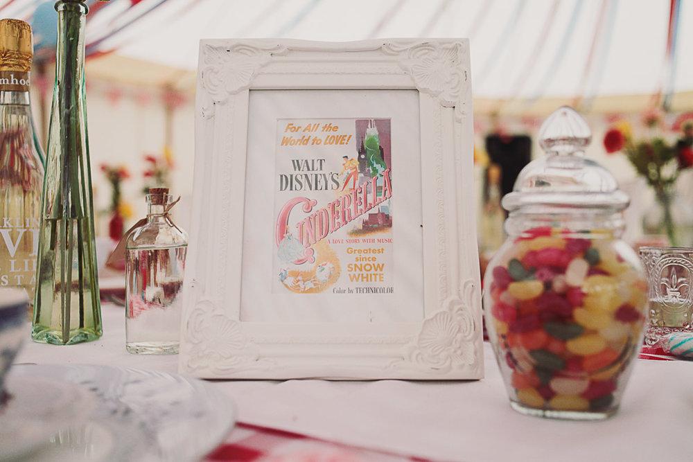 Table Setting Disney Inspired Wedding Decor - UK Alternative Wedding Photography Chloe Lee Photo