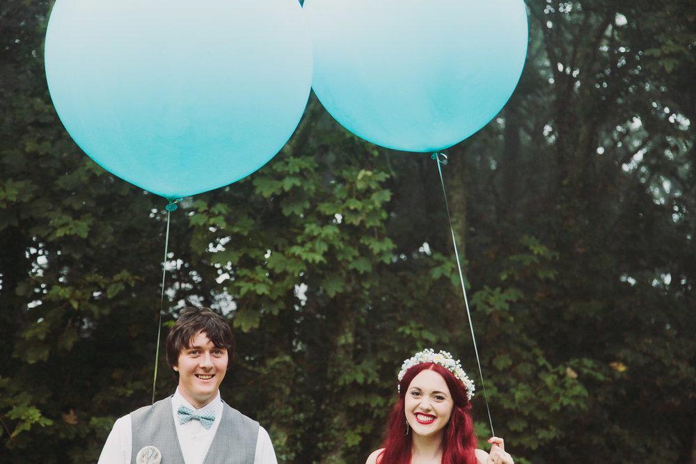 Disney Inspired Wedding Decor Gint Balloons - UK Alternative Wedding Photography Chloe Lee Photo