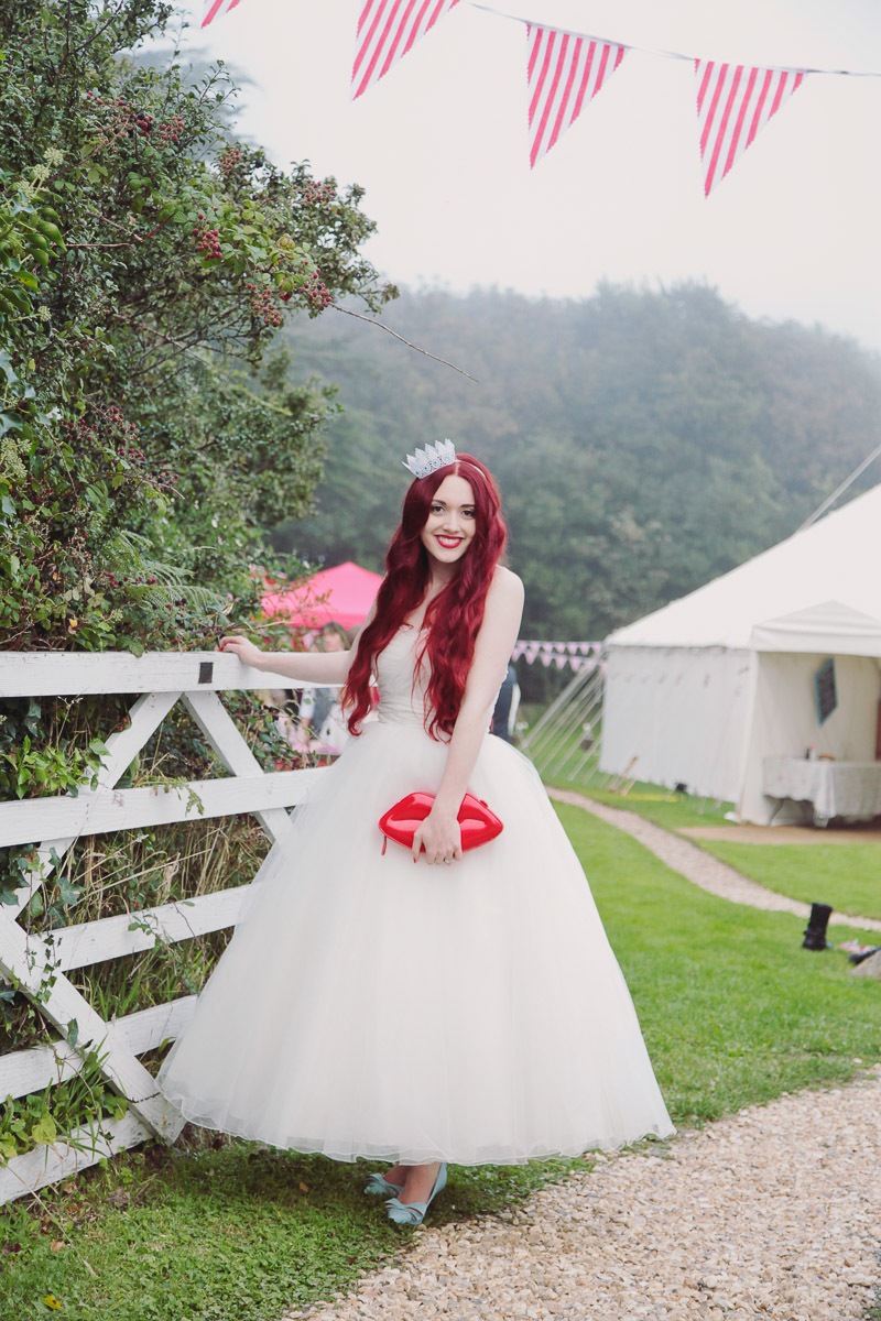 Disney Inspired Wedding Red Head Bride Style - UK Alternative Wedding Photography Chloe Lee Photo