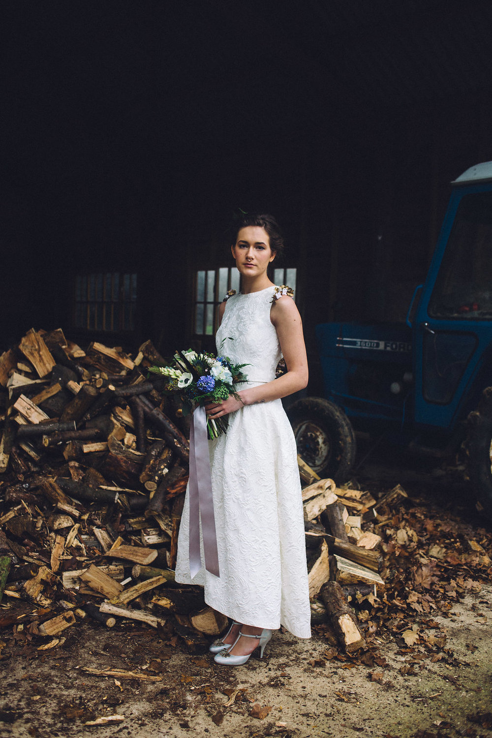 Alternative Bridal Style Rock the Frock - Captains Wood Barn Essex