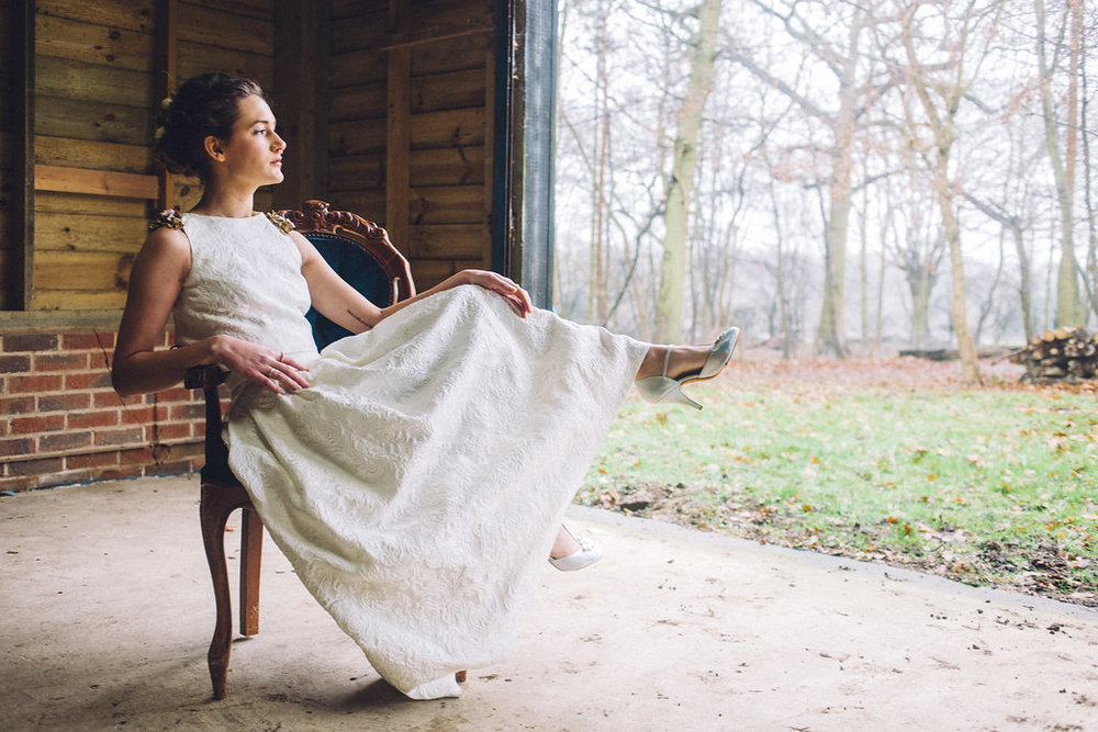 Alternative Bridal Inspiration Rock the Frock - Captains Wood Barn Essex