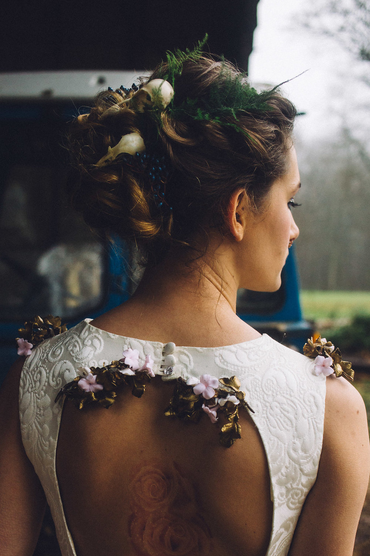 Skull Bridal Hair Piece - Captains Wood Barn Essex