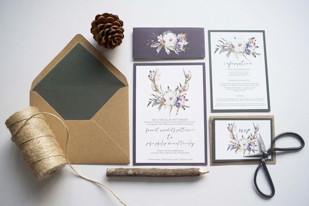 Wonderland Invites Boho Essex Stationary