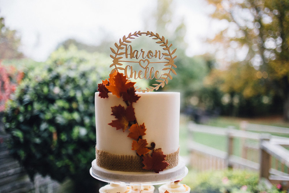 Rustic Autumnal Wedding Cake Fennes Essex - Alternative Wedding Photography