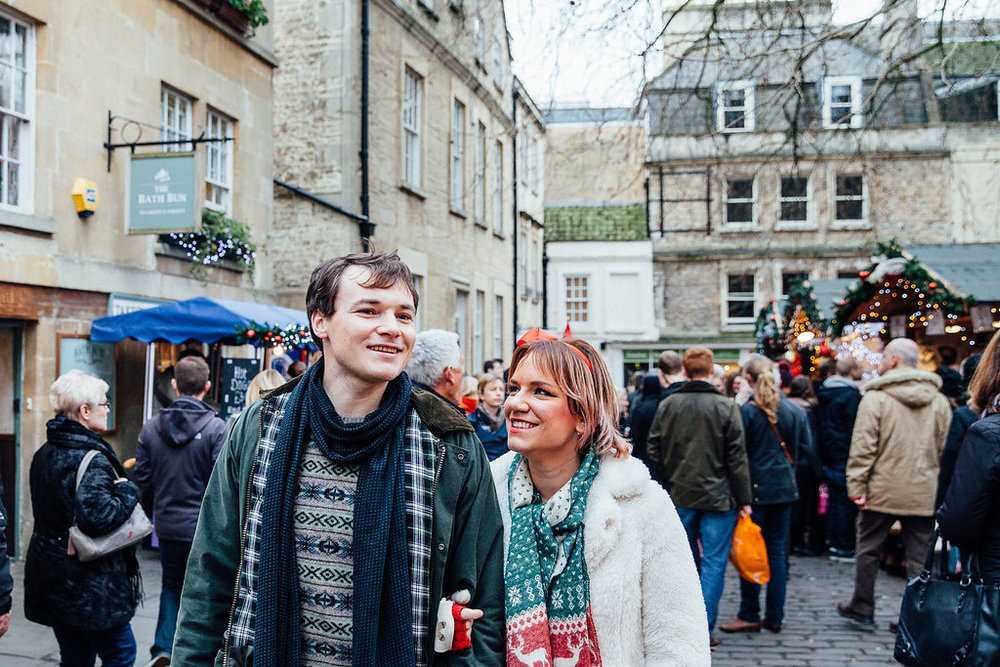 Bath Christmas Market Couple Shoot