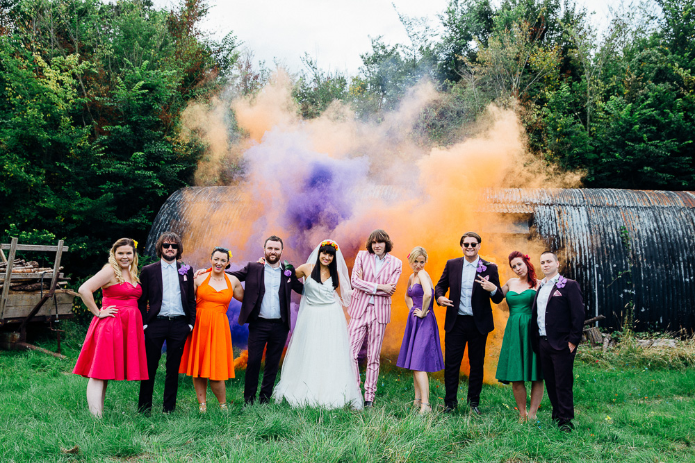 Smoke Bomb Wedding Photo Ideas - Alternative Photography Chloe Lee Photo