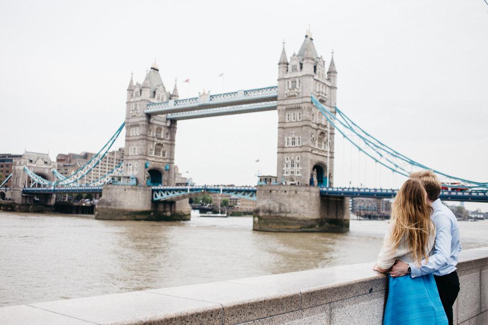 Tower Bridge and Southbank Pre-wedding Couple photoshoot London Wedding Photographer